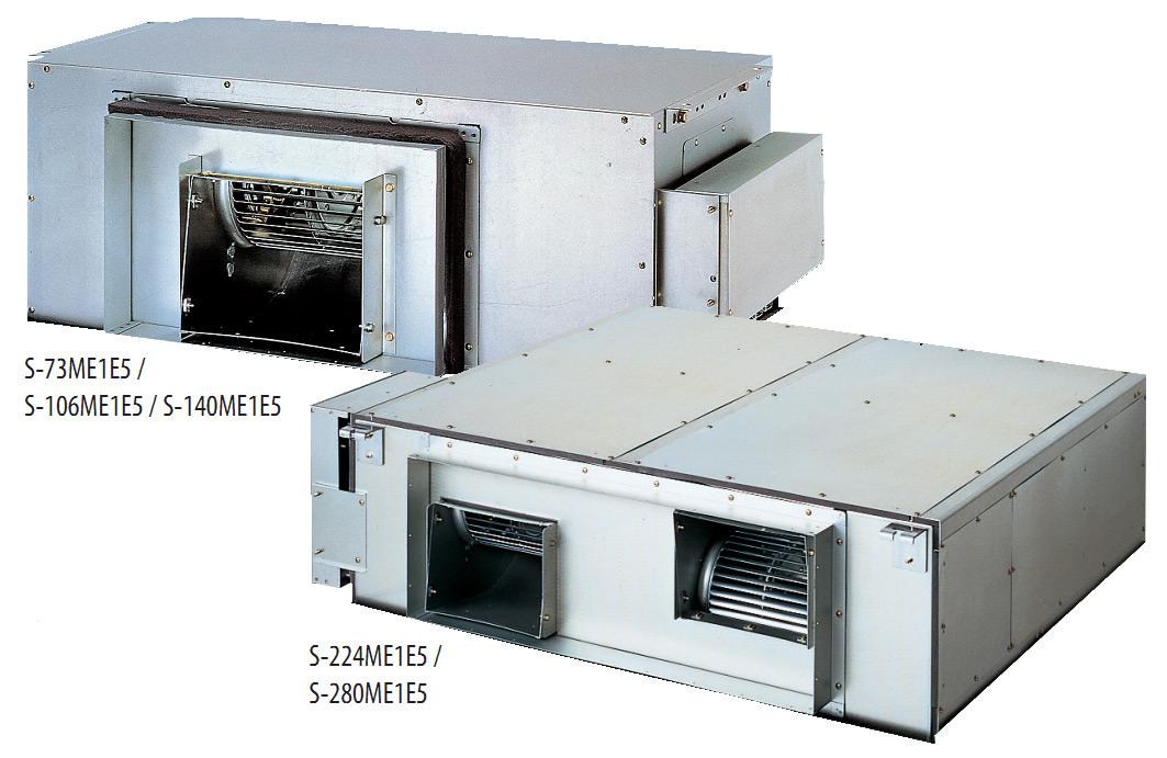 Тип E1 / канальный (с высоким статическим давлением) кондиционер S-73ME1E5, S-106ME1E5, S-140ME1E5, S-224ME1E5, S-280ME1E5